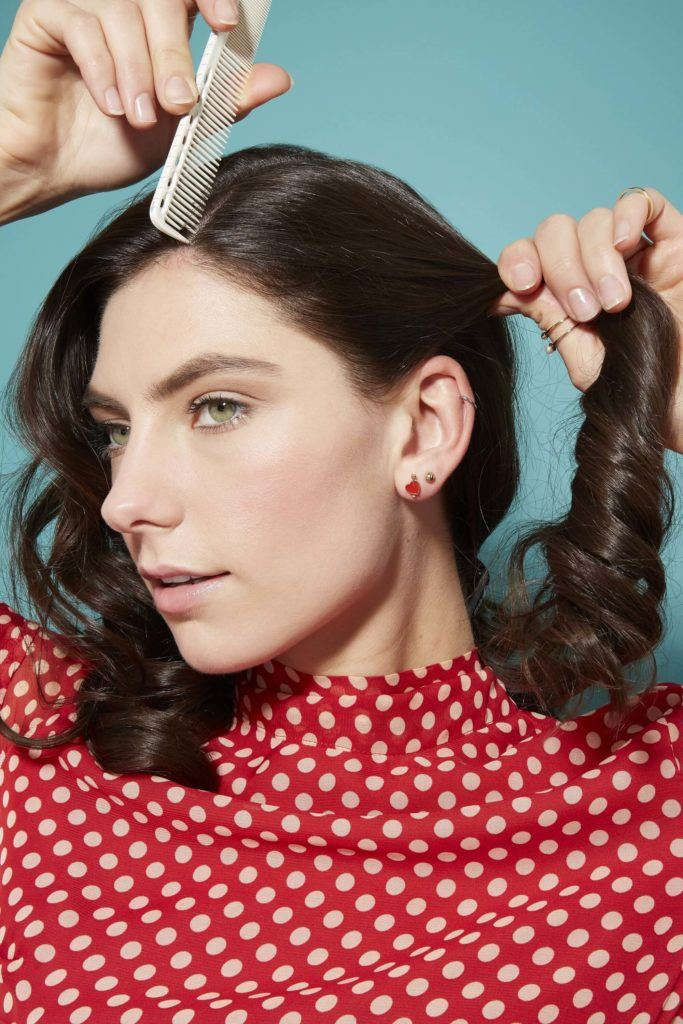 peinados pin up cabello castaño