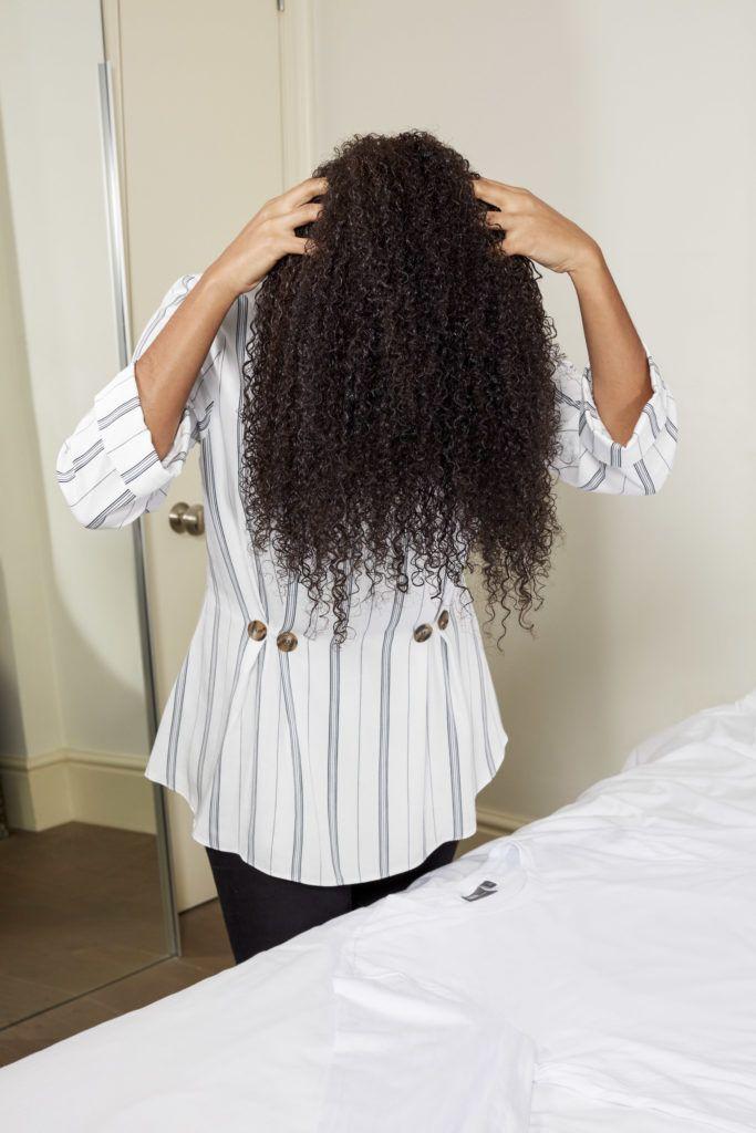 plop el cabello rizado