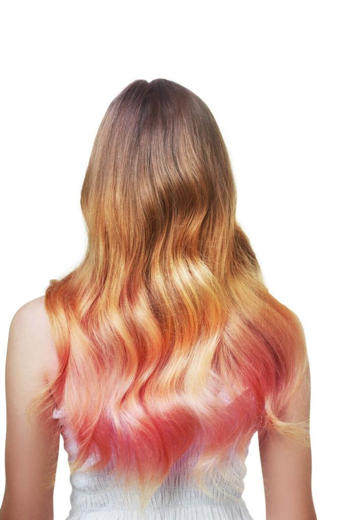 cabello con dos colores ombré ácido