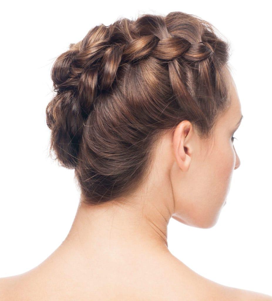 peinados elegantes recogidos trenza invertida