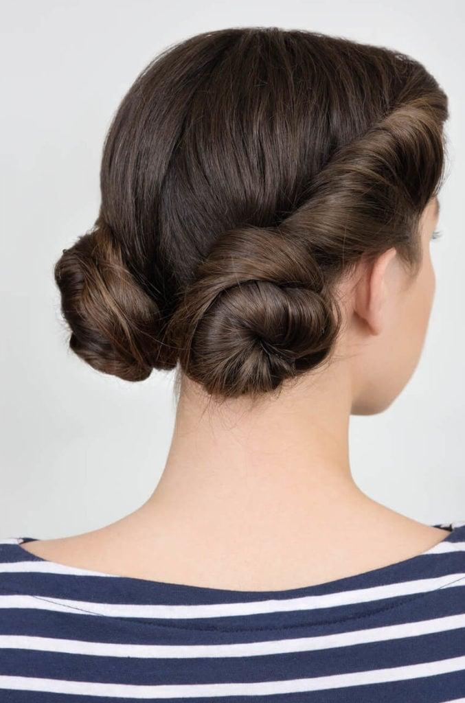 peinados elegantes recogidos nudos espaciales bajos