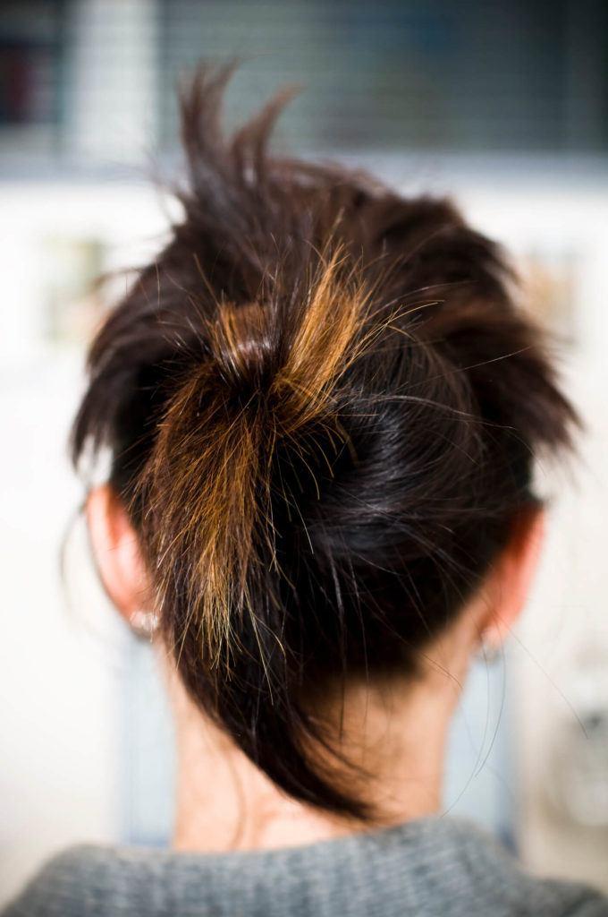 peinados retorcidos nudo torzado