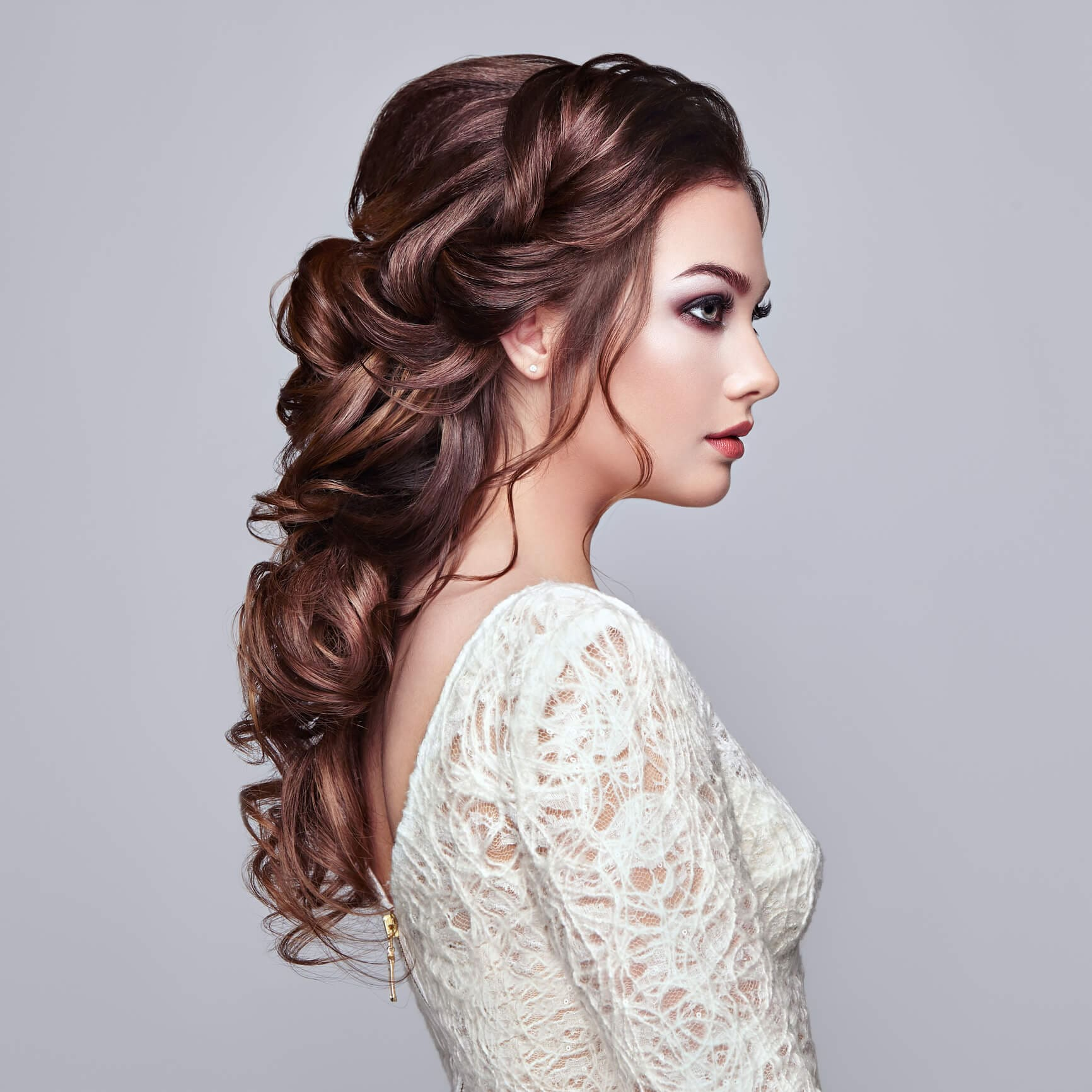 peinados con ondas ramo de flores
