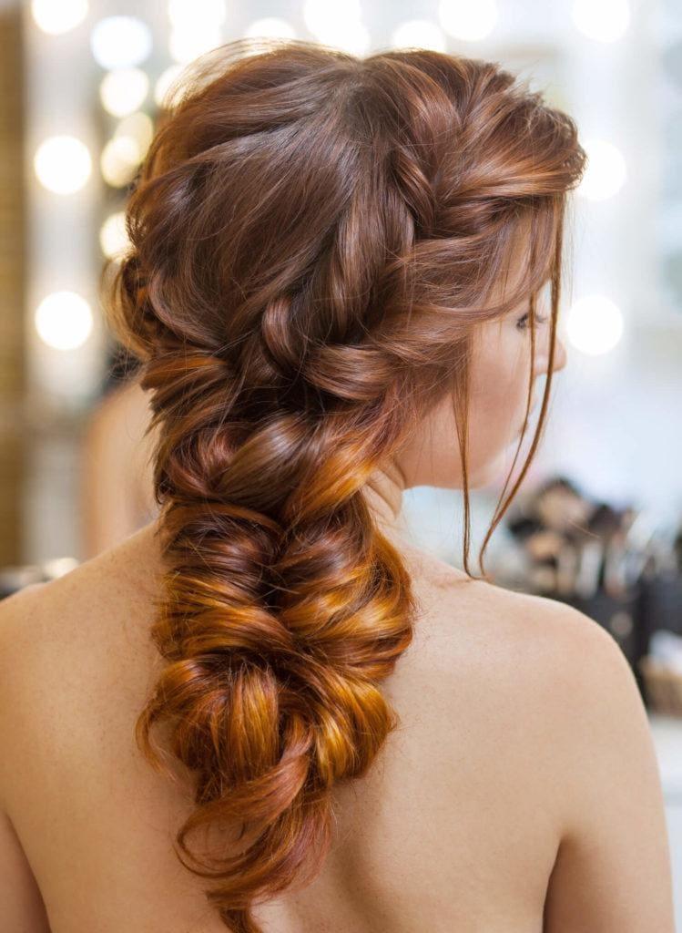 peinados con plancha trenza bohemia