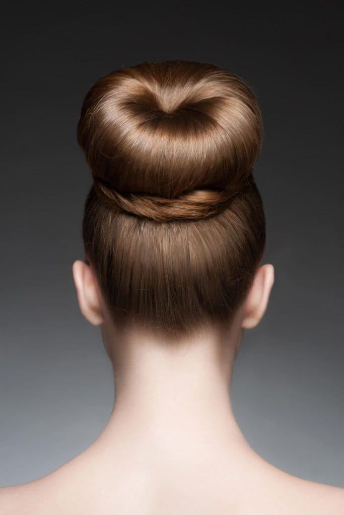 peinados con moños dona