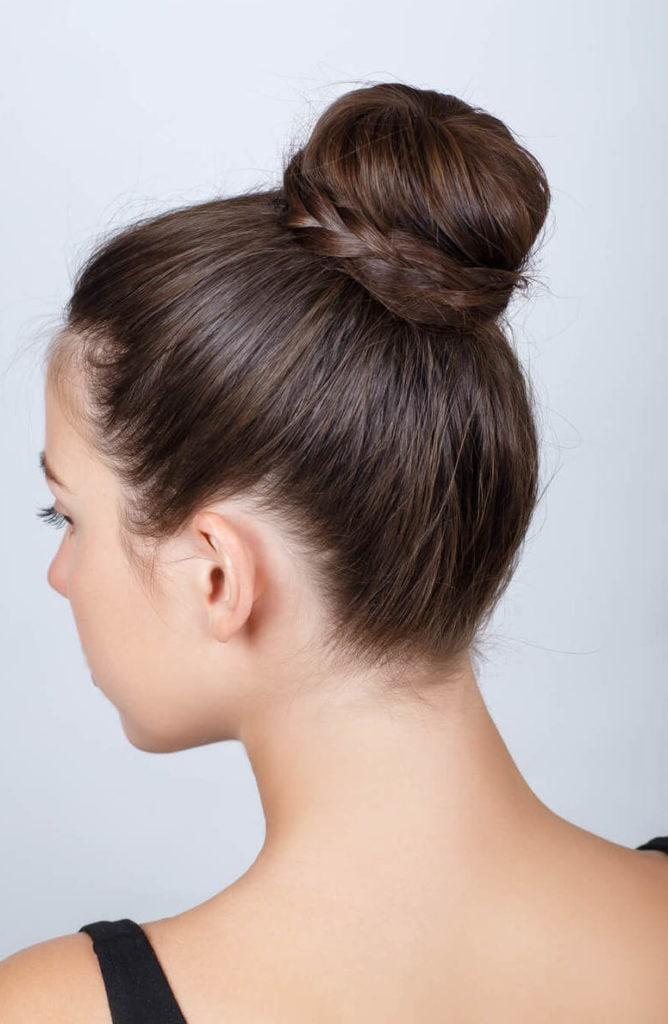 peinados con moños de bailarina