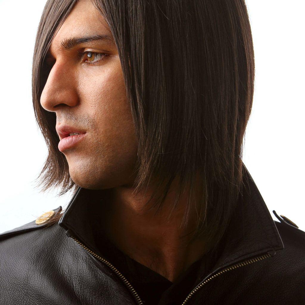 peinados emo hombres largo en capas