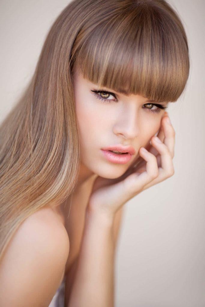 cortes de pelo para cara alargada flequillo francés