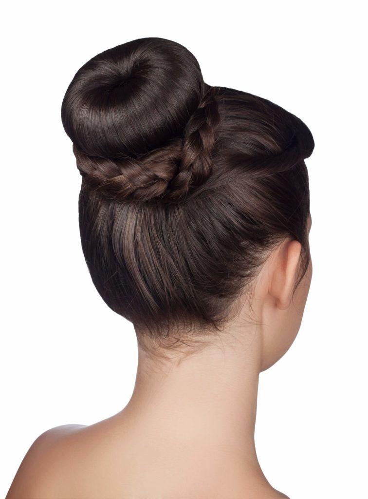 peinados recogidos con trenzas para fiestas dona trenzada