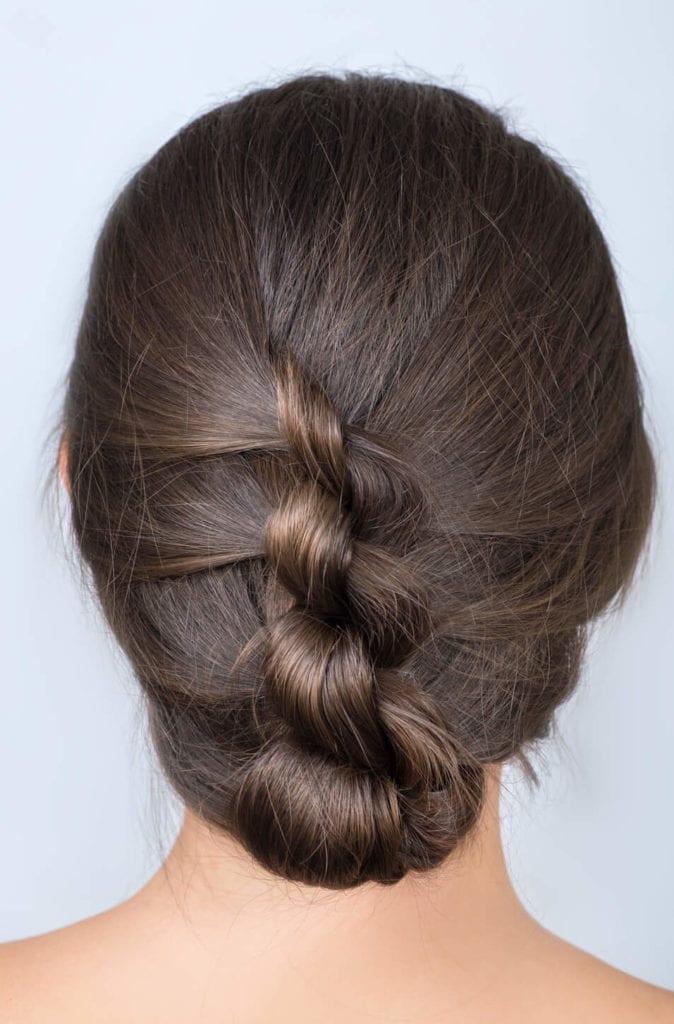 peinados recogidos con trenzas para fiestas trenza de dos