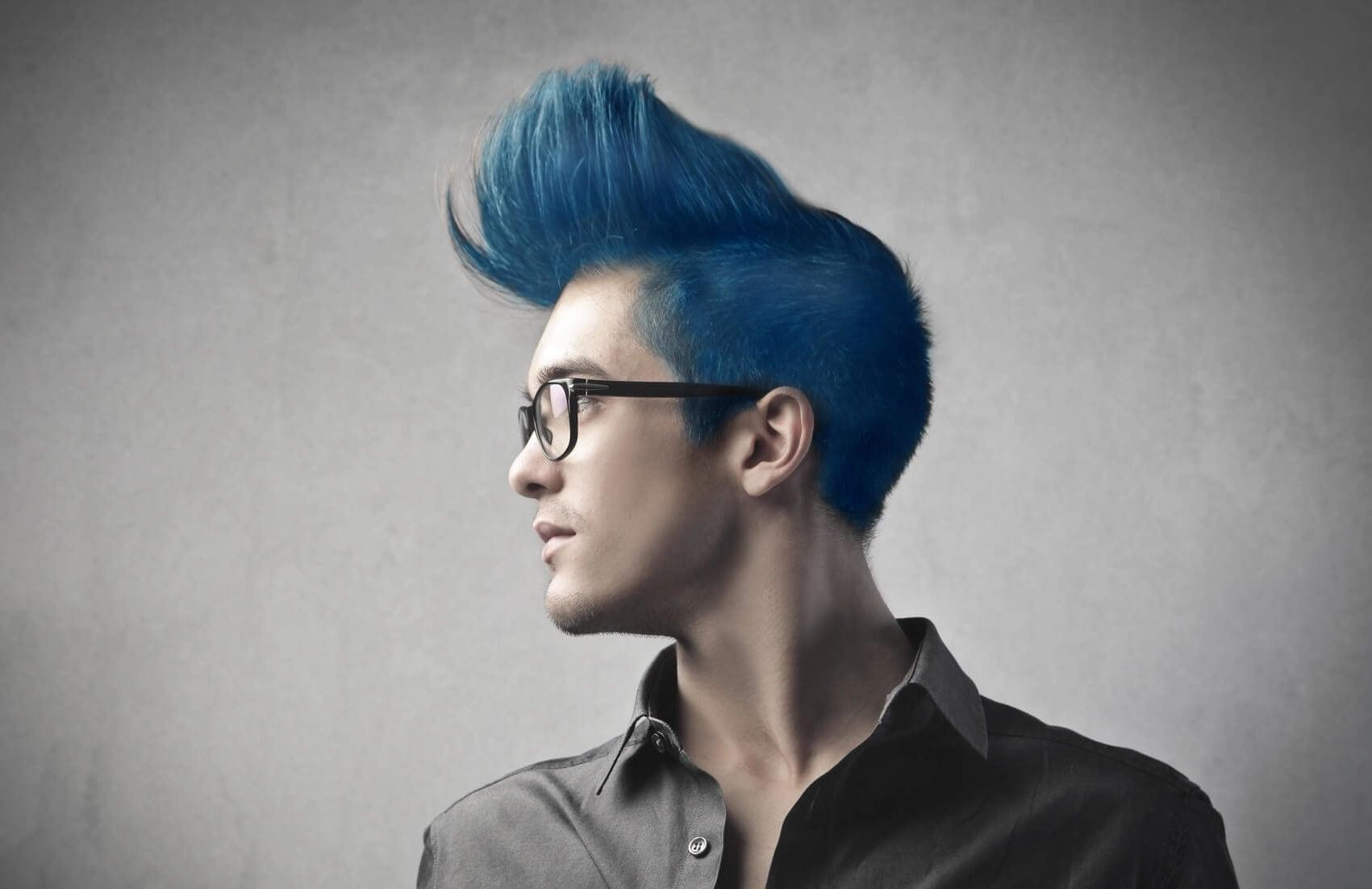tintes de pelo azul para hombre