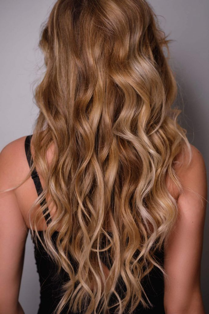 mechas californianas doradas