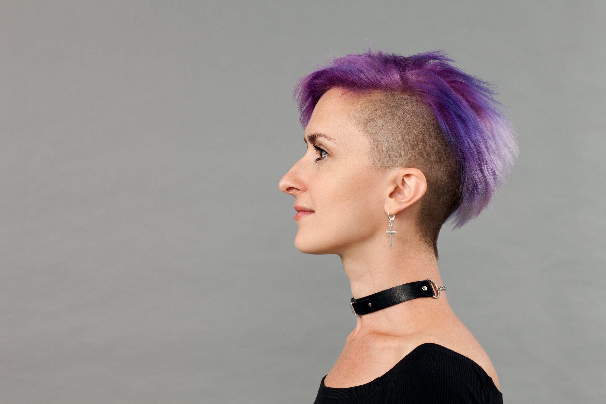 corte de pelo en capas punk