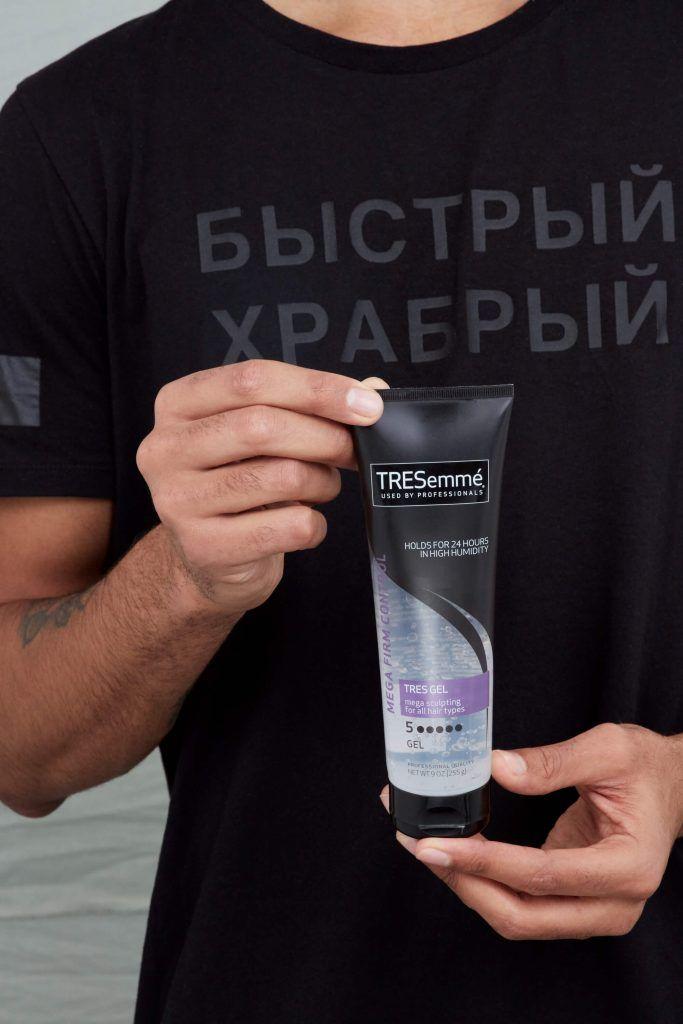 cómo peinar el cabello corto gel para el cabello