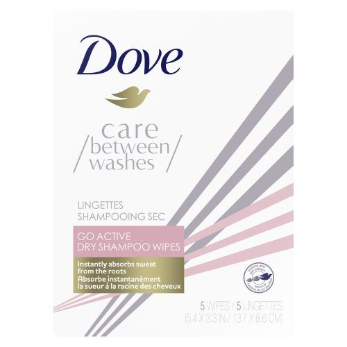 Dove Care Between Washes Go Active Dry Shampoo Wipes