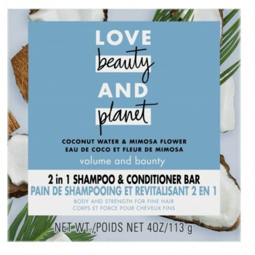 Love, Beauty and Planet 2in1 Coconut Water & Mimosa Flower Shampoo and Conditioner Bar