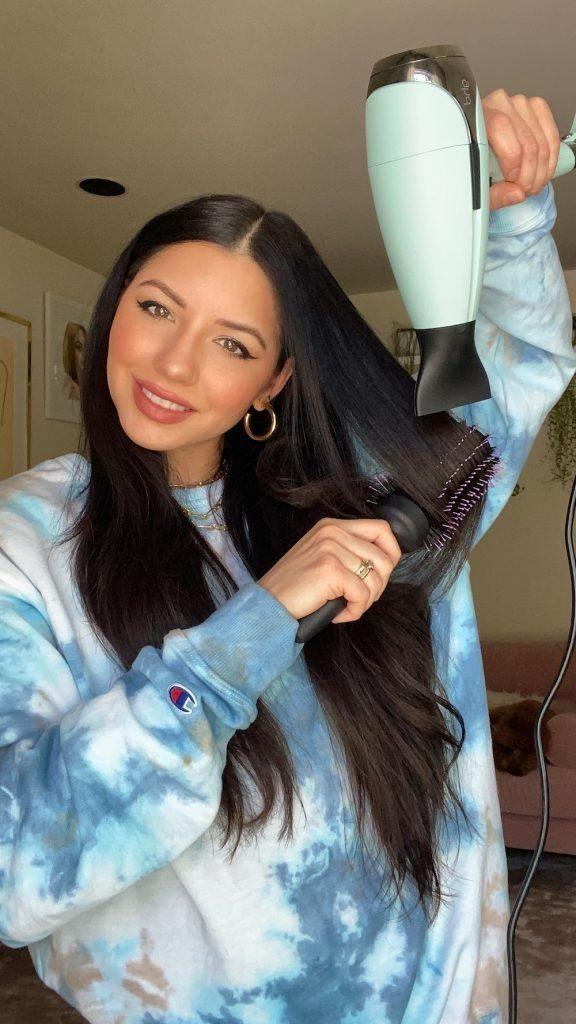 halo trenzado seca el cabello