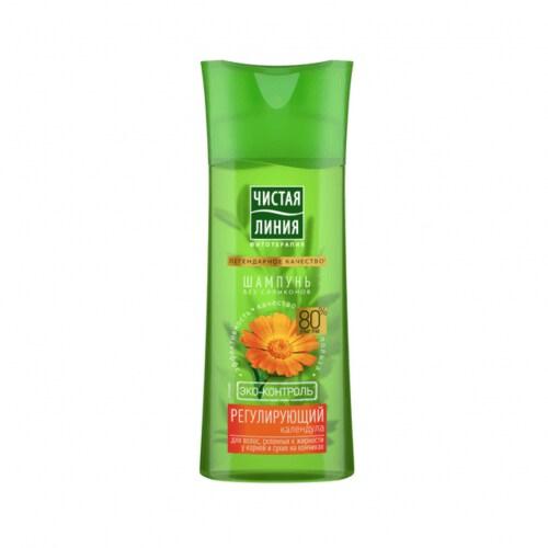 Шампунь «Календула» бренда «Чистая Линия» для склонных к жирнсти волос