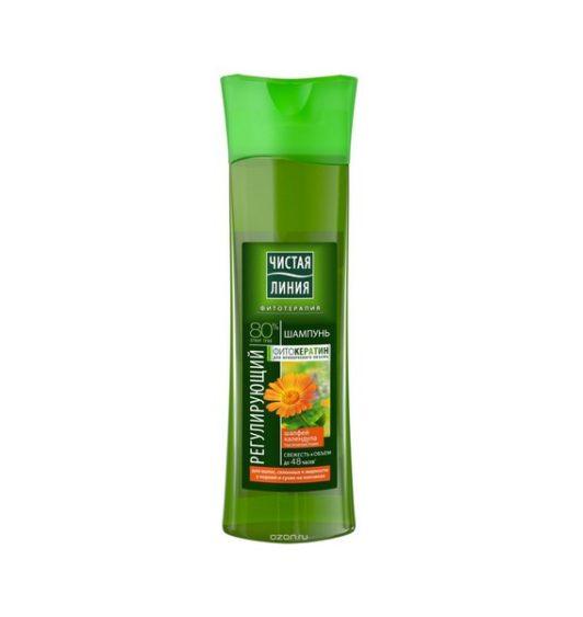 Чистая Линия шампунь для волос, склонных к жирности Календула