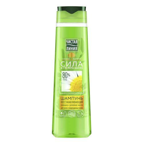 Чистая Линия шампунь для сухих и поврежденных волос Ромашка