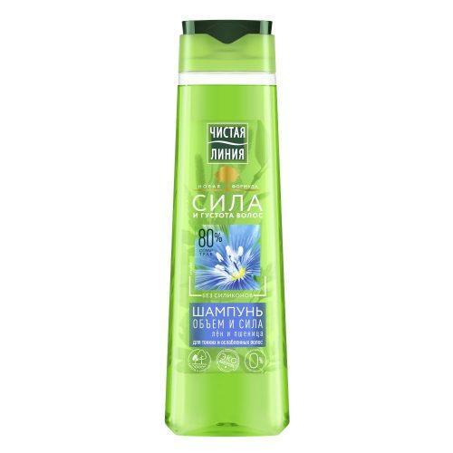 Шампунь «Пшеница» бренда «Чистая Линия» для тонких и ослабленных волос