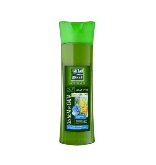 Чистая Линия шампунь для тонких и ослабленных волос Пшеница