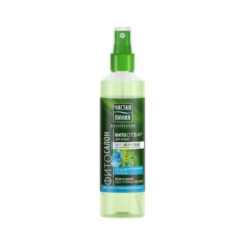 Чистая Линия спрей для волос Восстановление и объем