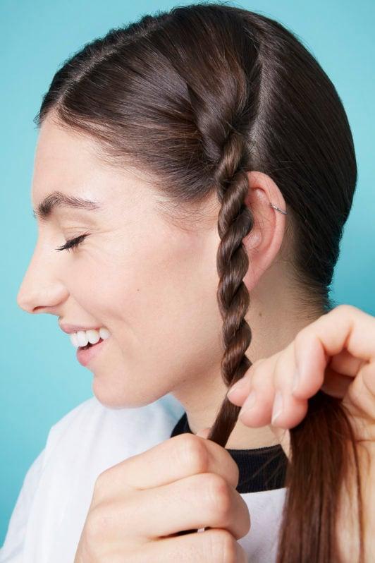 как заплести косу набок