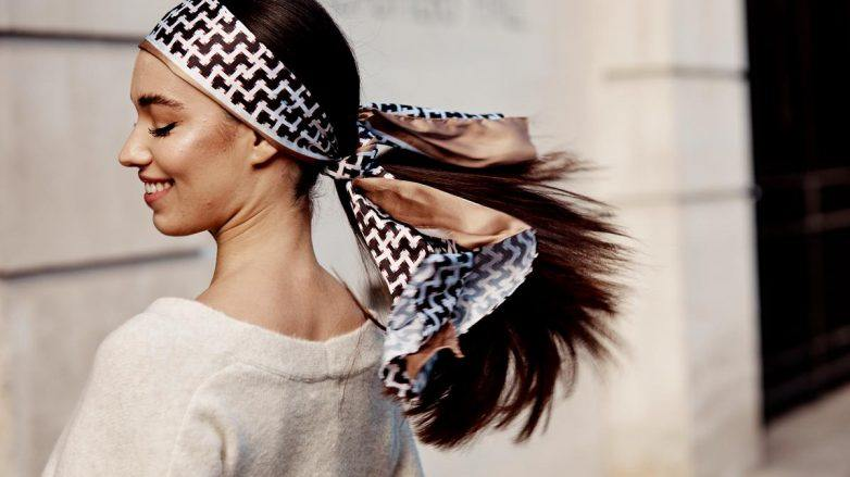 маска для волос для густоты длинные темные волосы хвост платок