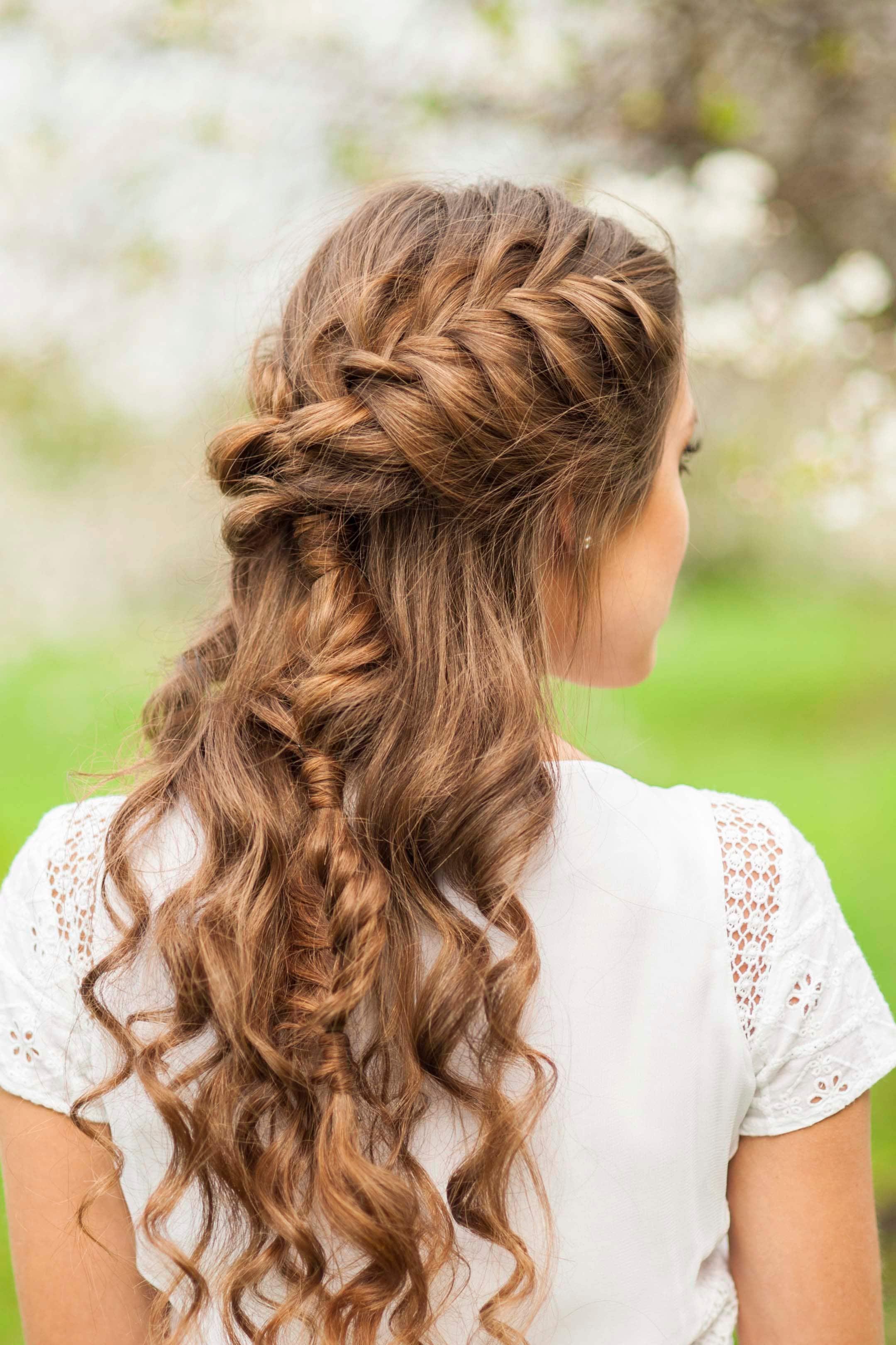 Прически на полураспущенные волосы