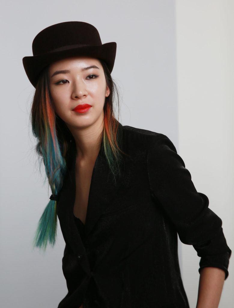 волосы цвета радуги