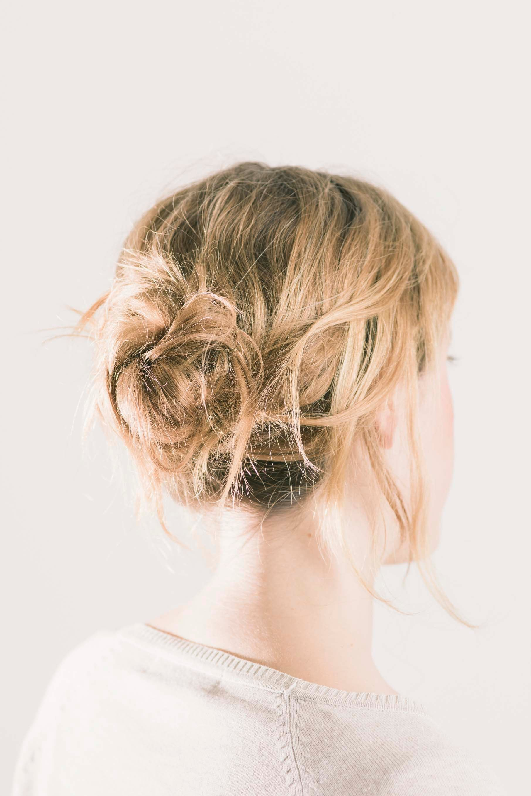 простые пучки из волос