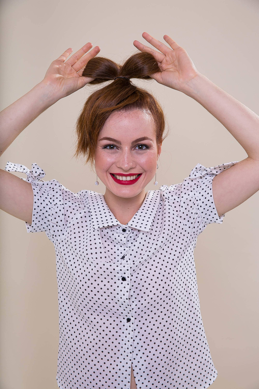 банты ленты в волосах