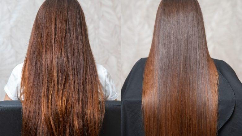 нанопластика волос рыжие прямые волосы длинные