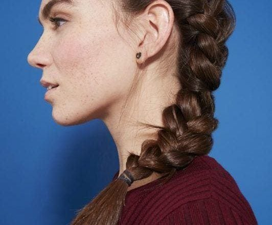 как заплести французскую косу набок