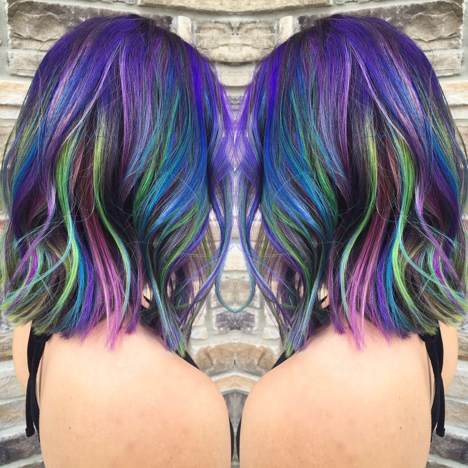 тушь для волос цветная