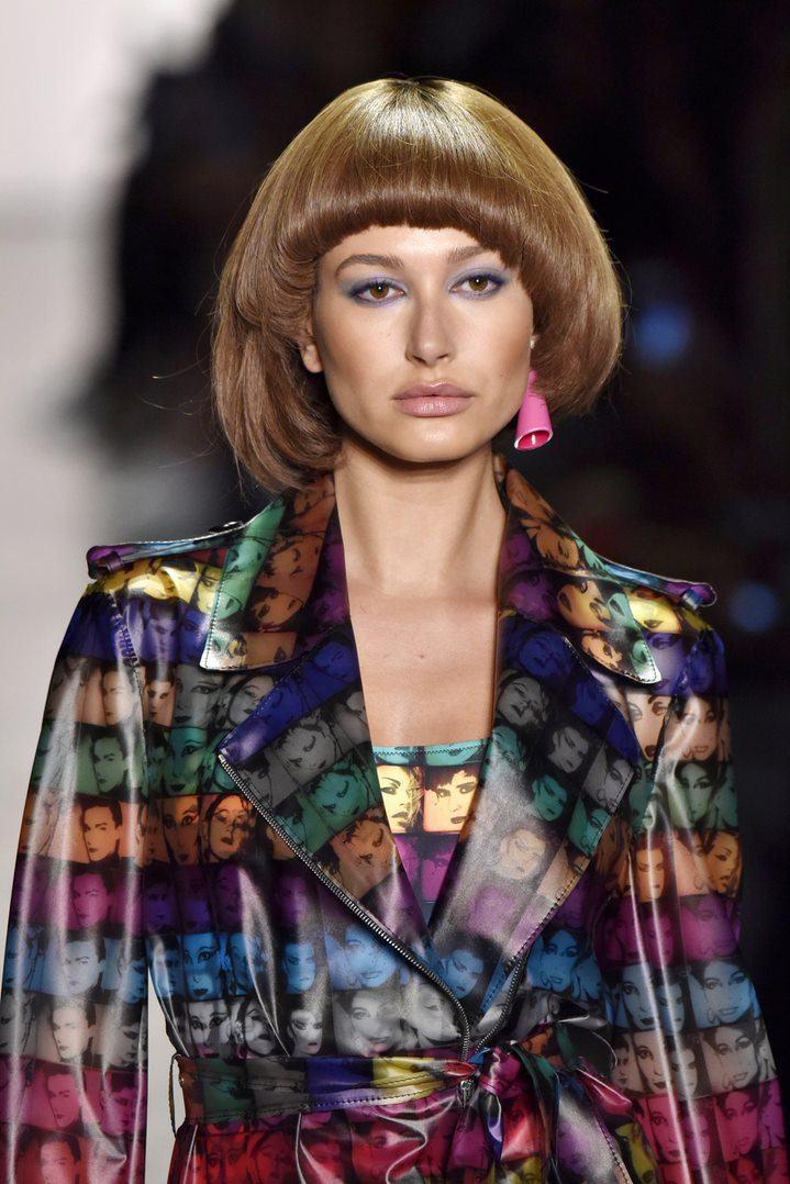 асимметричное каре коричневые волосы