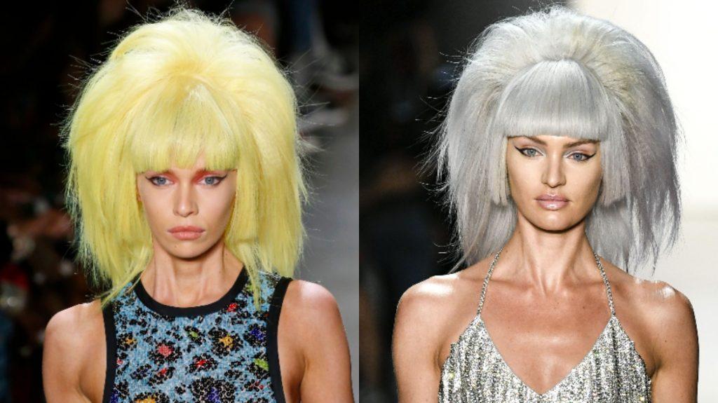 цвет волос pantone 2021 серый желтый каре челка объем
