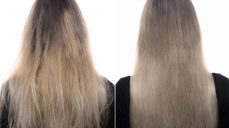ботокс для волос длинные пепельные волосы