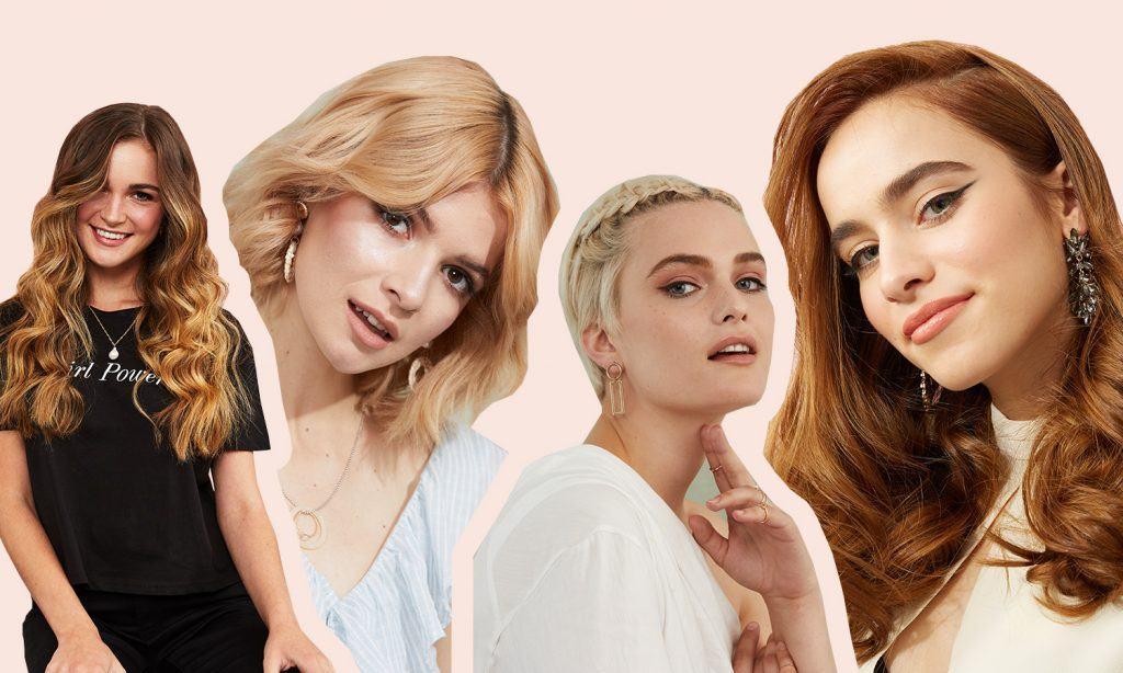 женские стрижки названия длинные короткие средние волосы блонд коричневые волны косичка