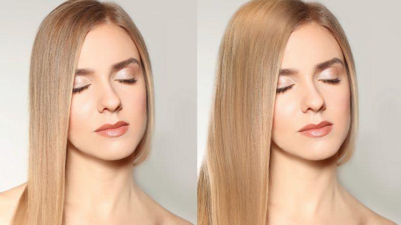 флисинг волос длинные светлые