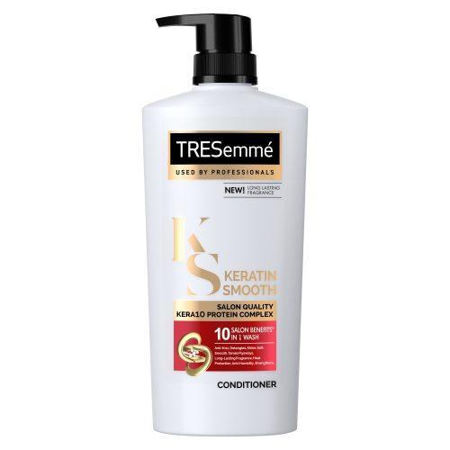 Bottle of TRESemme Keratin Smooth KERA10 Conditioner