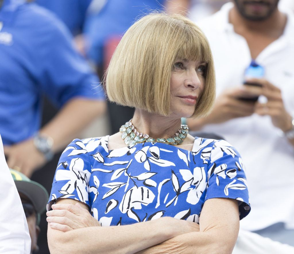 Anna Wintour's blunt bob hairstyle