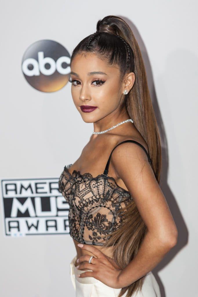 Ariana Grande high ponytail hairstyle