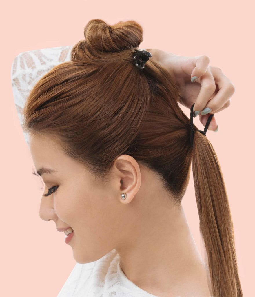 Janeena Chan tutorial ponytail hairstyle for night out
