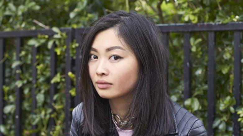 asian woman with shoulder length black hair