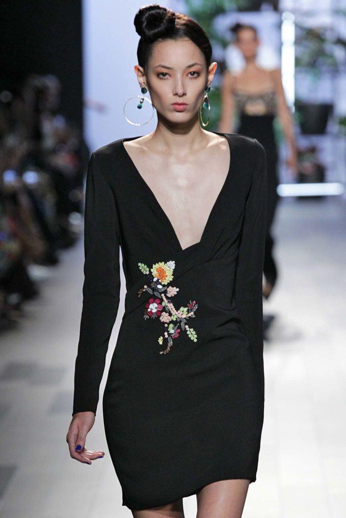 model walking on catwalk during New York Fashion Week: Cushnie et Ochs