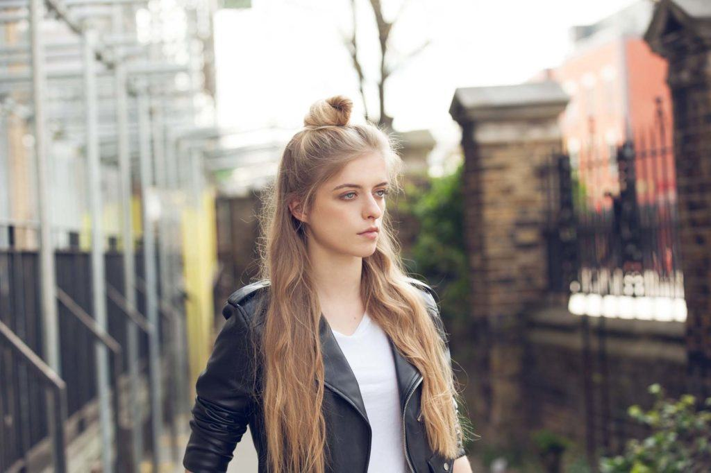 cute-hairstyles-for-long-hair-half-up-top-knot