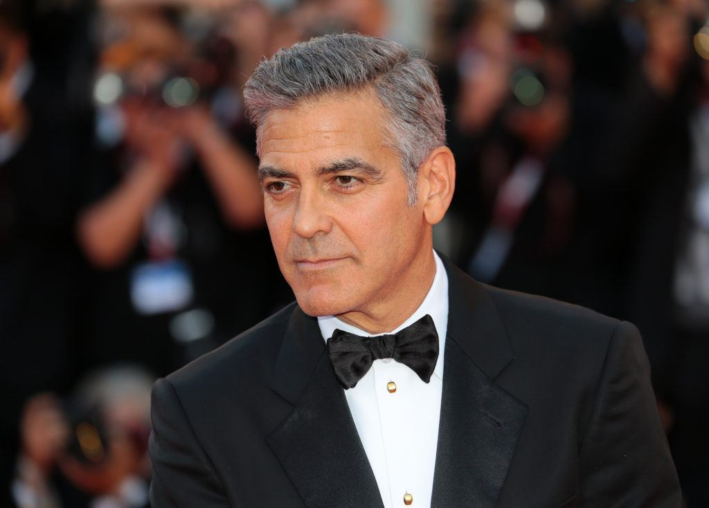 george clooney's grey hairstyle
