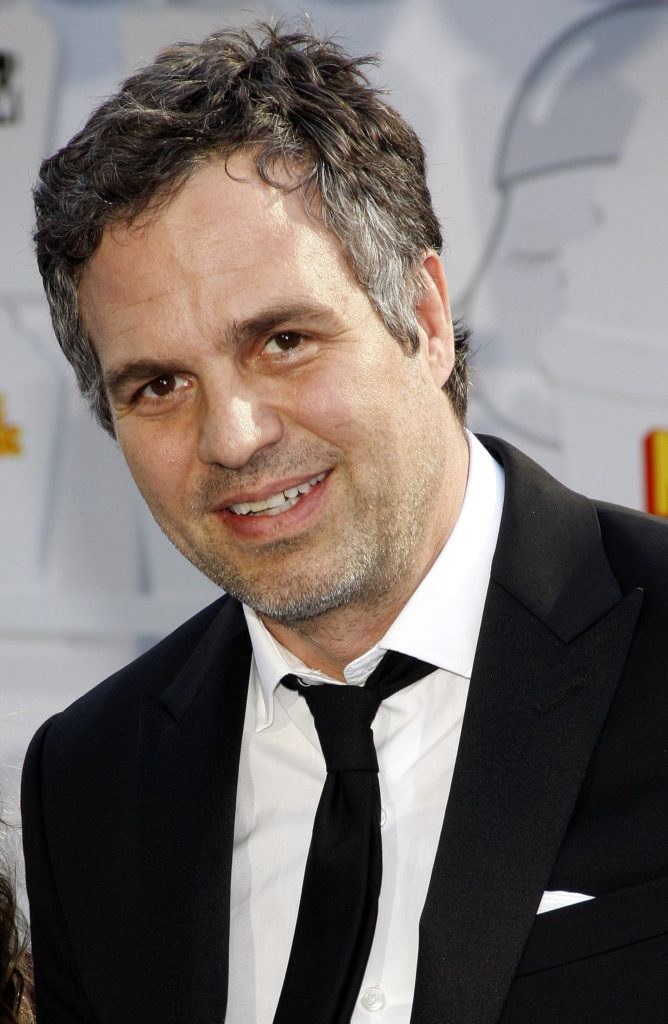 Mark Ruffalo's grey hairstyle